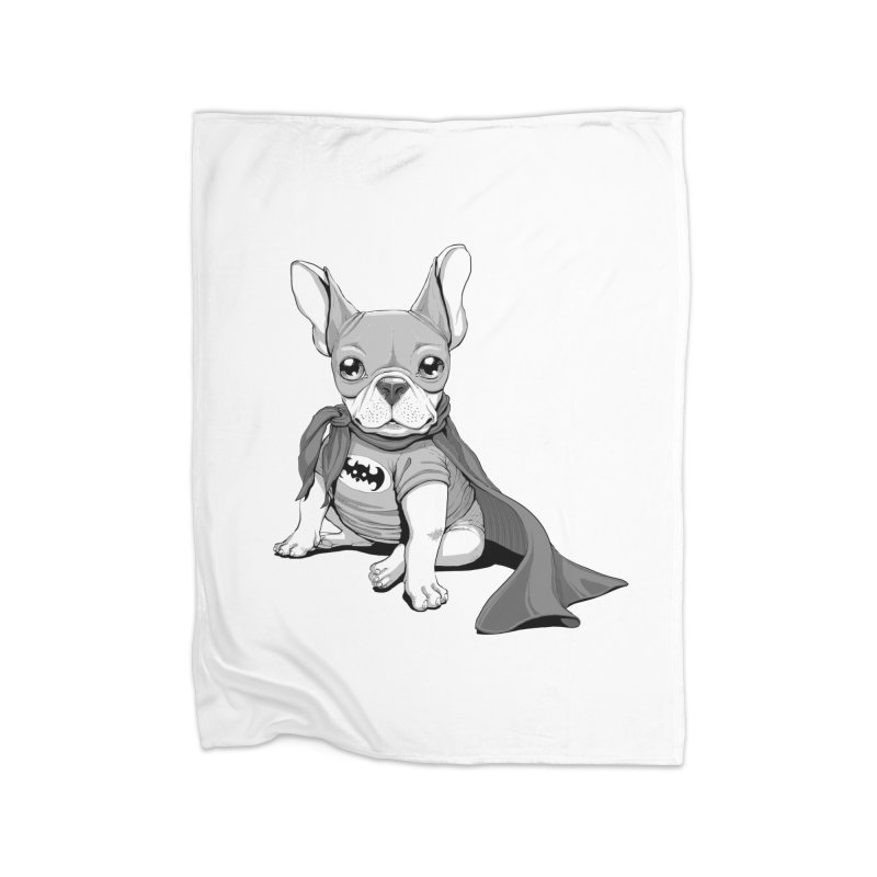French Batdog Home Fleece Blanket Blanket by T2U