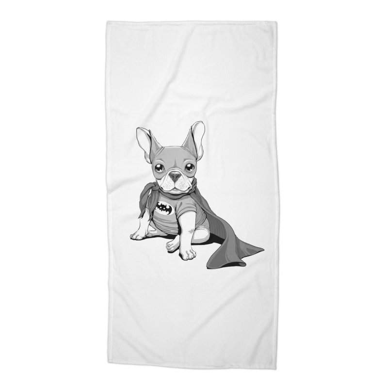 French Batdog Accessories Beach Towel by T2U