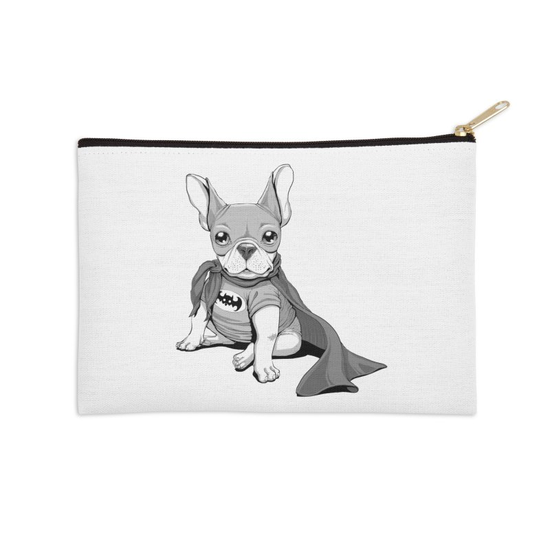 French Batdog Accessories Zip Pouch by T2U