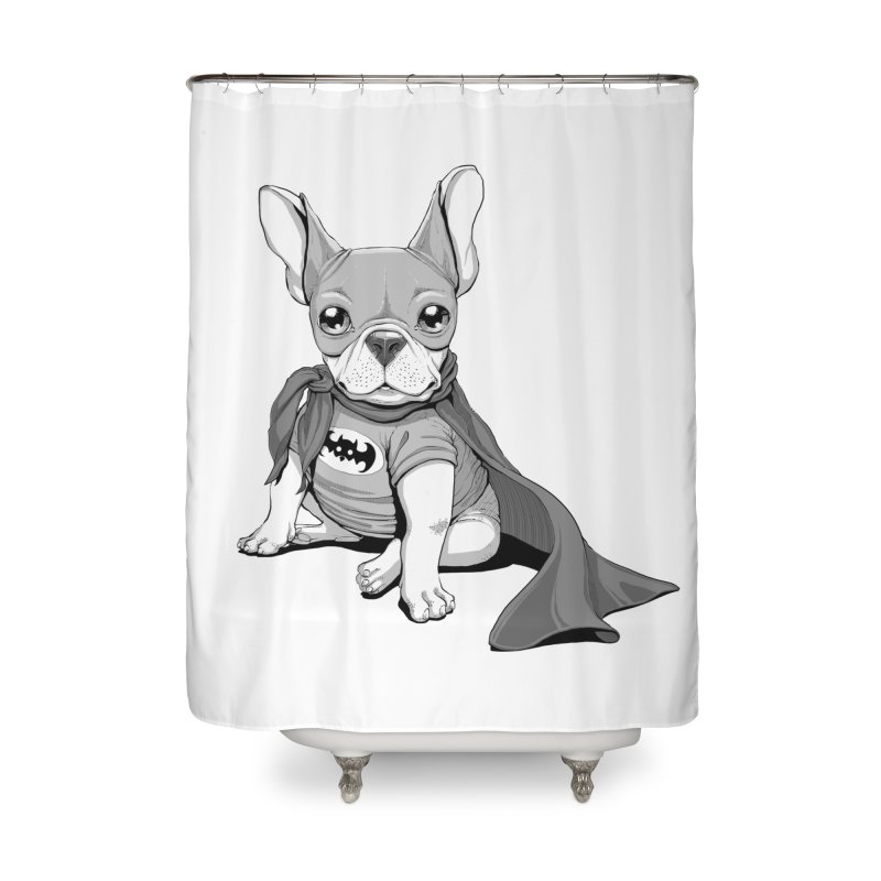 French Batdog Home Shower Curtain by Tiago Möller Art Shop