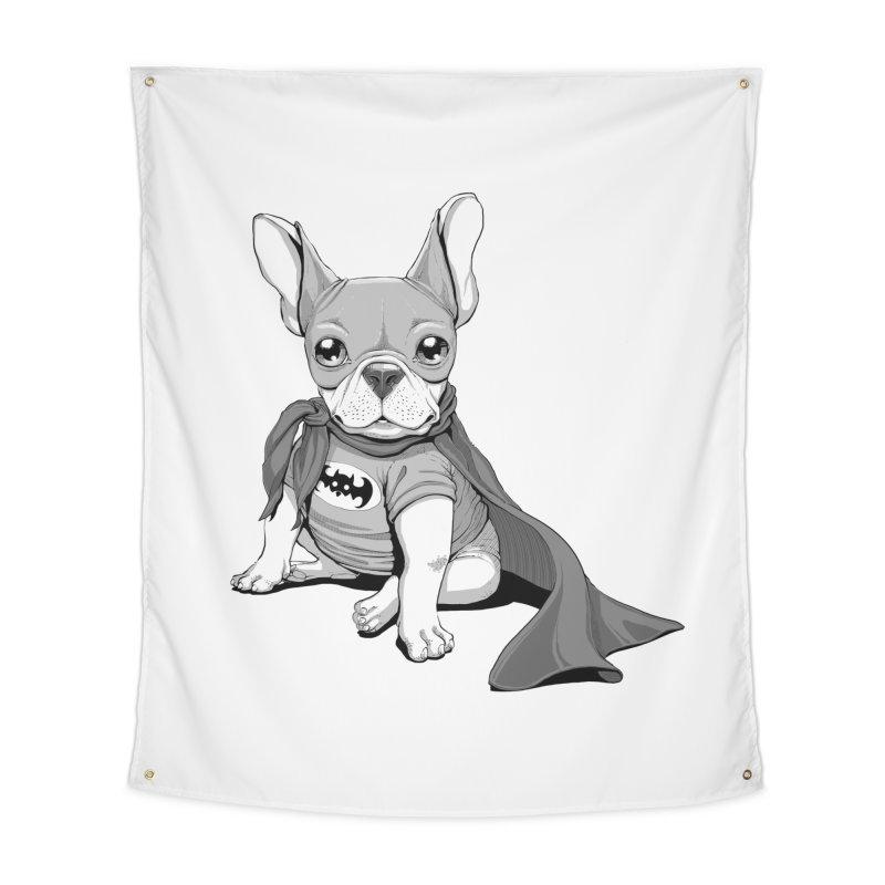 French Batdog Home Tapestry by T2U