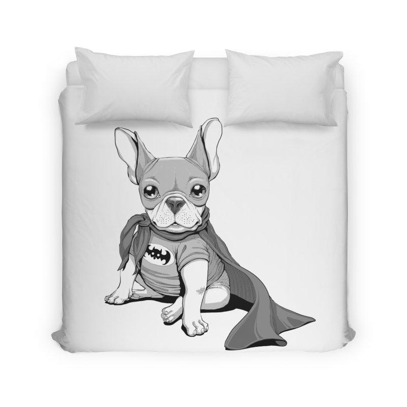 French Batdog Home Duvet by T2U