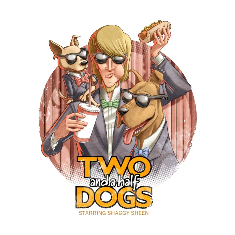 Two and a Half Dogs Men's V-Neck by T2U