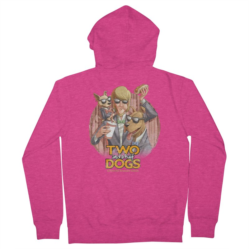 Two and a Half Dogs Women's Zip-Up Hoody by Tiago Möller Art Shop