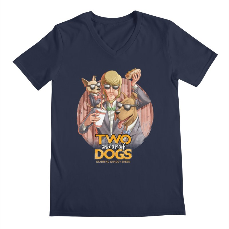 Two and a Half Dogs Men's V-Neck by Tiago Möller Art Shop