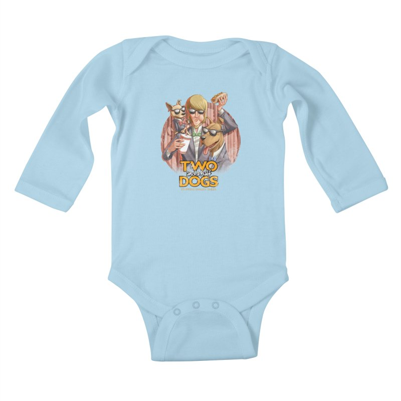Two and a Half Dogs Kids Baby Longsleeve Bodysuit by T2U