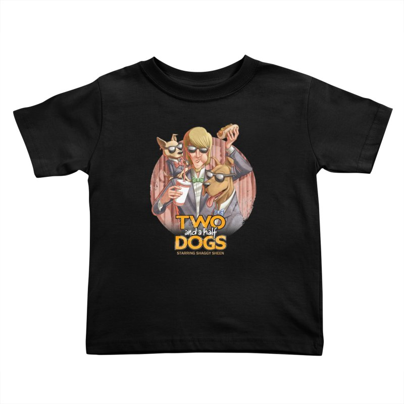 Two and a Half Dogs Kids Toddler T-Shirt by Tiago Möller Art Shop
