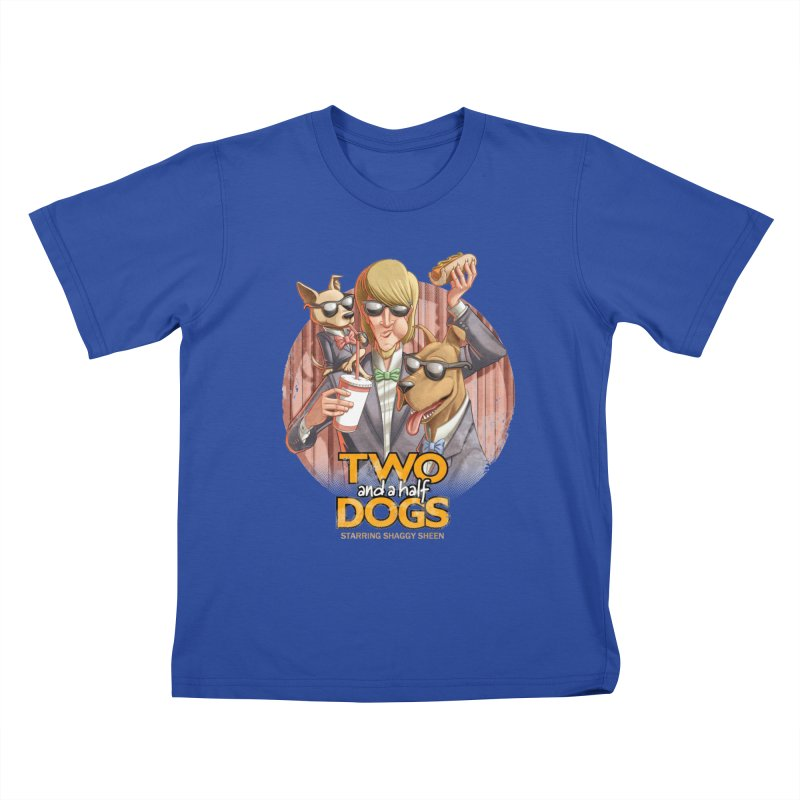 Two and a Half Dogs Kids T-Shirt by T2U