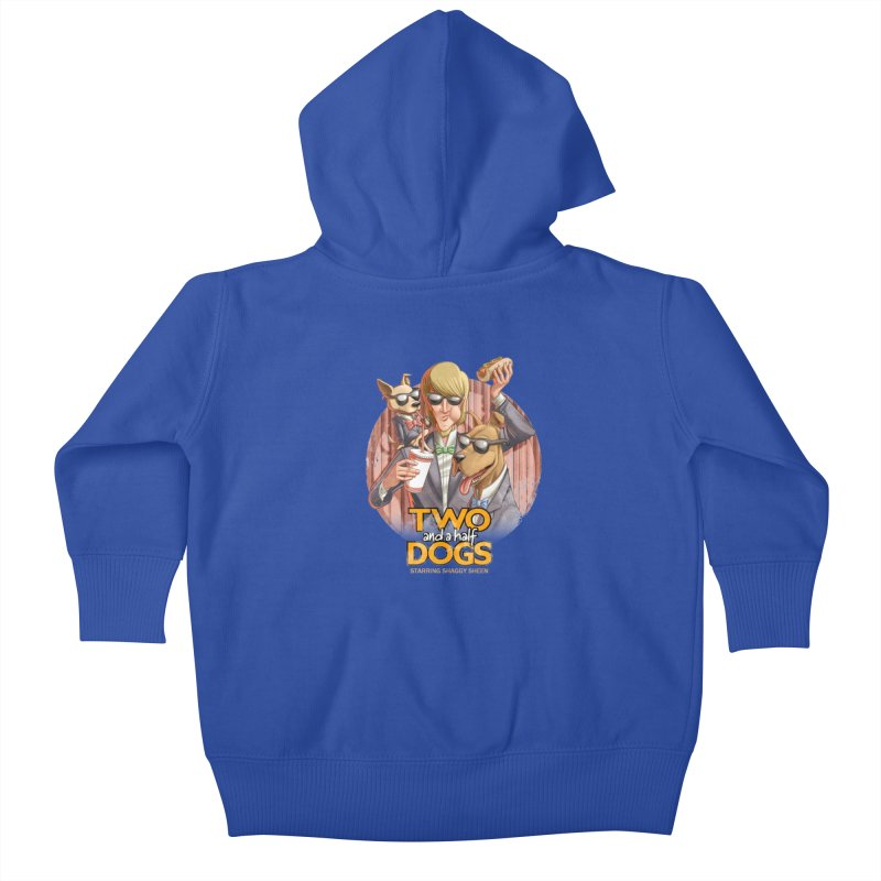 Two and a Half Dogs Kids Baby Zip-Up Hoody by Tiago Möller Art Shop
