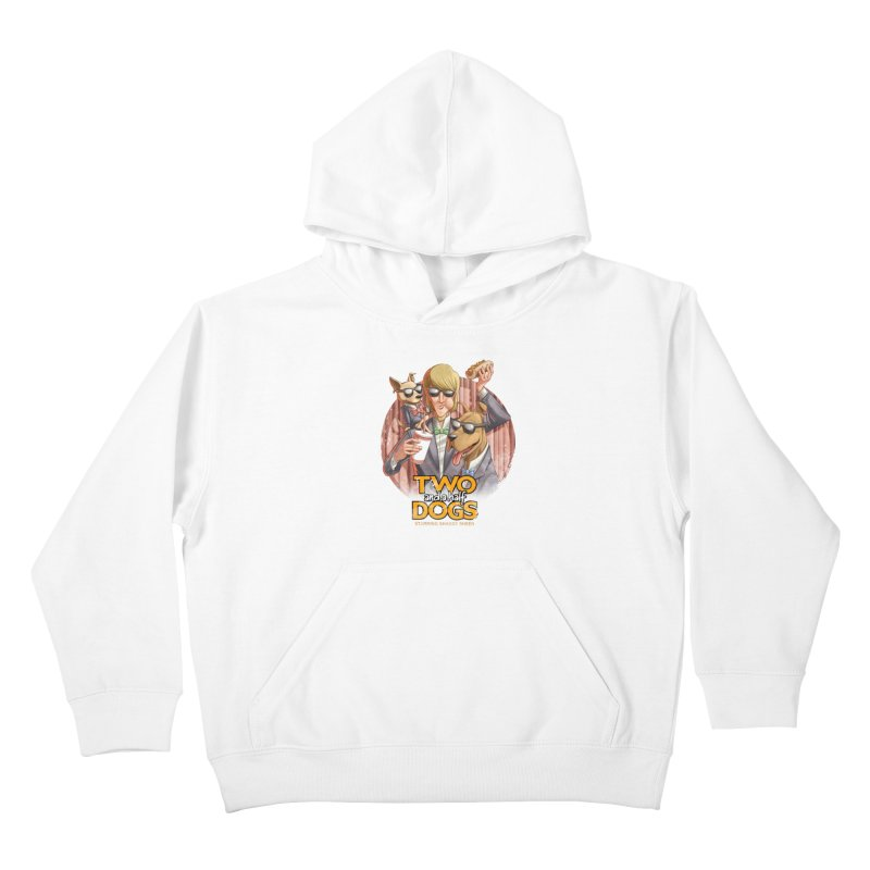 Two and a Half Dogs Kids Pullover Hoody by Tiago Möller Art Shop