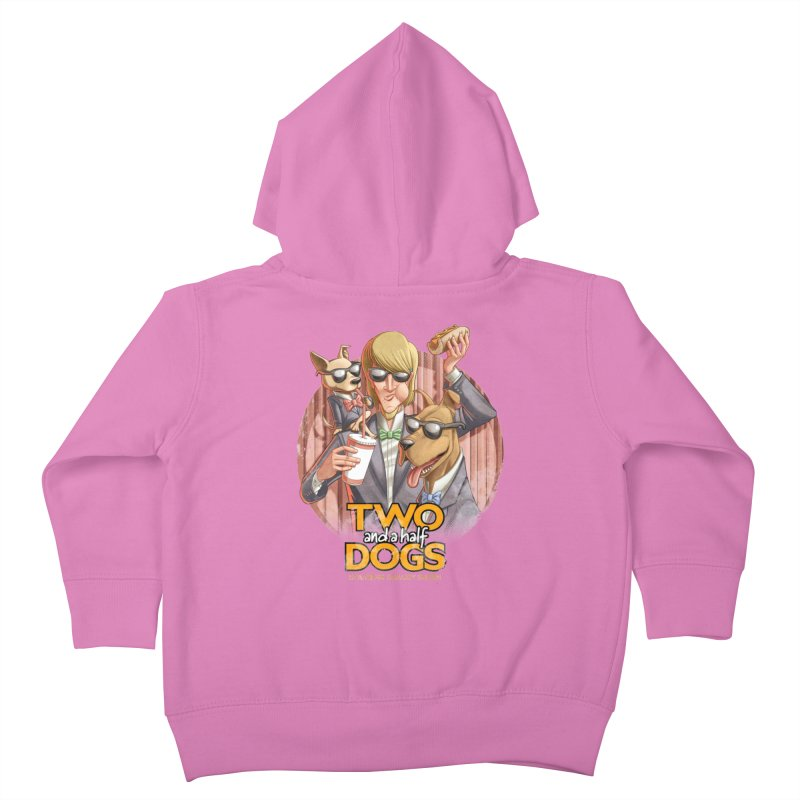 Two and a Half Dogs Kids Toddler Zip-Up Hoody by Tiago Möller Art Shop