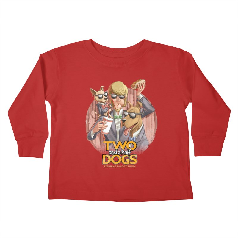 Two and a Half Dogs Kids Toddler Longsleeve T-Shirt by Tiago Möller Art Shop