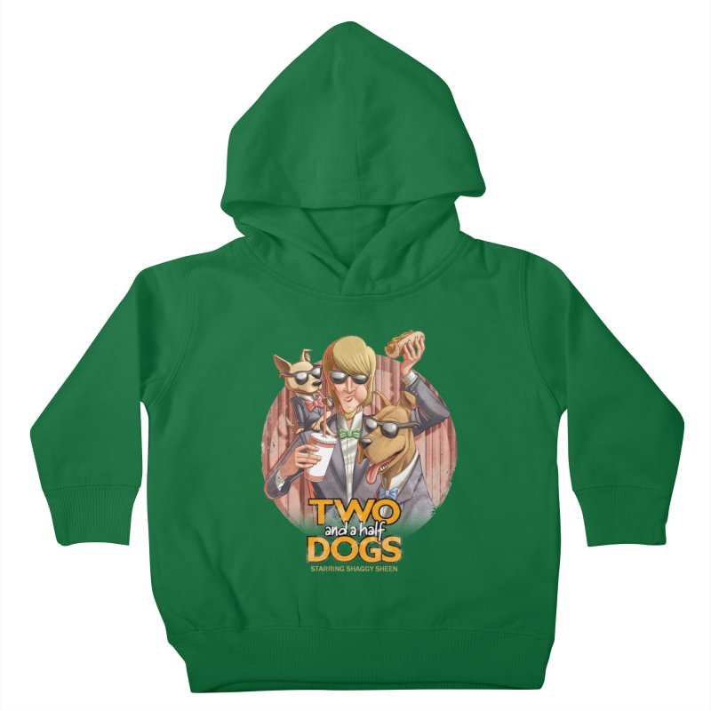 Two and a Half Dogs Kids Toddler Pullover Hoody by Tiago Möller Art Shop