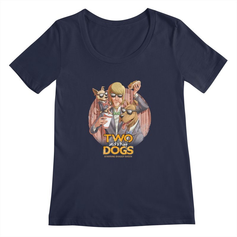 Two and a Half Dogs Women's Regular Scoop Neck by T2U