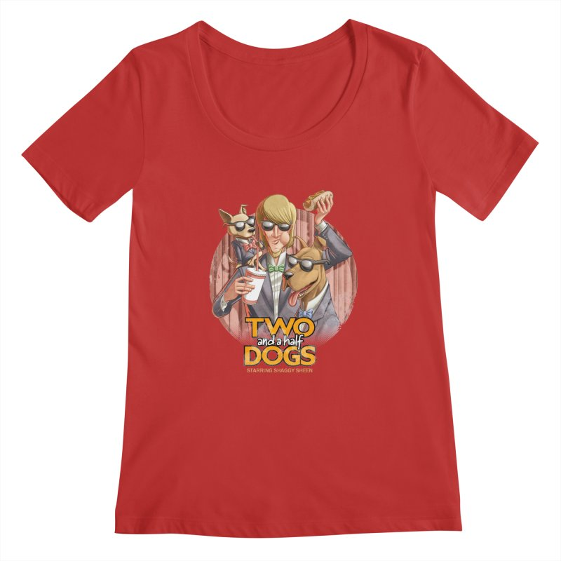 Two and a Half Dogs Women's Scoopneck by Tiago Möller Art Shop