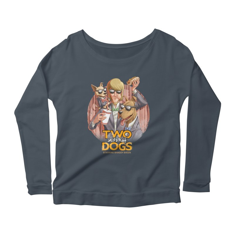 Two and a Half Dogs Women's Scoop Neck Longsleeve T-Shirt by T2U