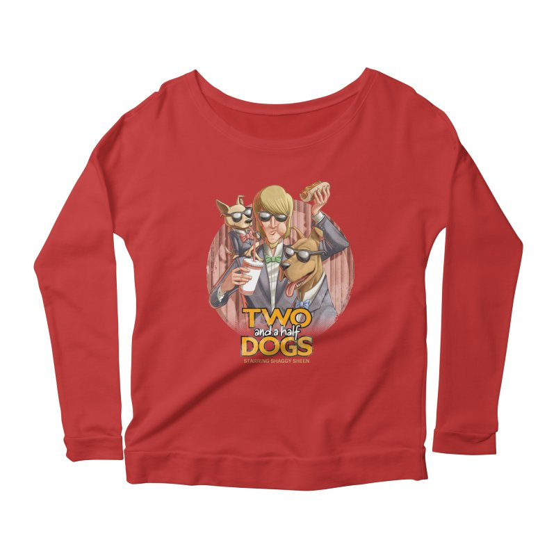 Two and a Half Dogs Women's Longsleeve Scoopneck  by Tiago Möller Art Shop
