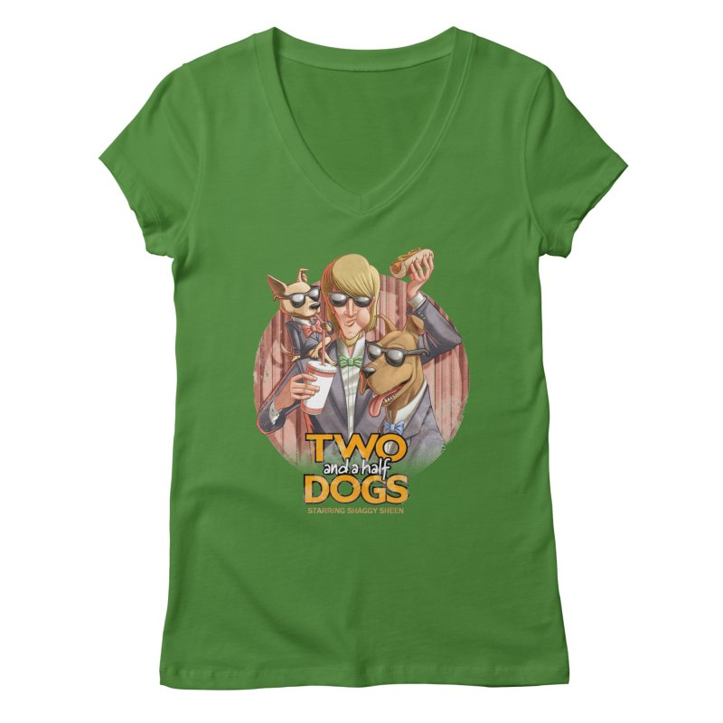 Two and a Half Dogs Women's Regular V-Neck by T2U