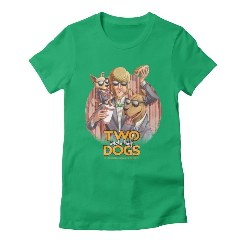 Two and a Half Dogs Women's Fitted T-Shirt by Tiago Möller Art Shop