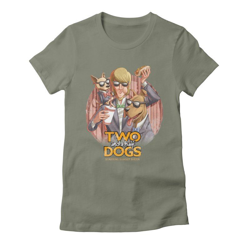 Two and a Half Dogs Women's Fitted T-Shirt by T2U