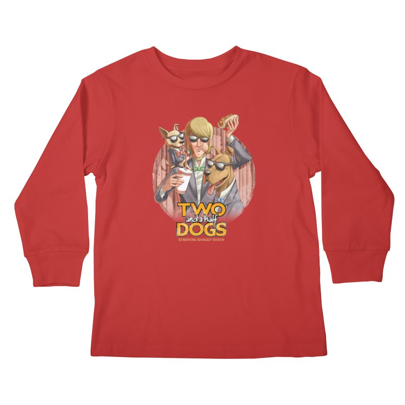 Two and a Half Dogs Kids Longsleeve T-Shirt by T2U