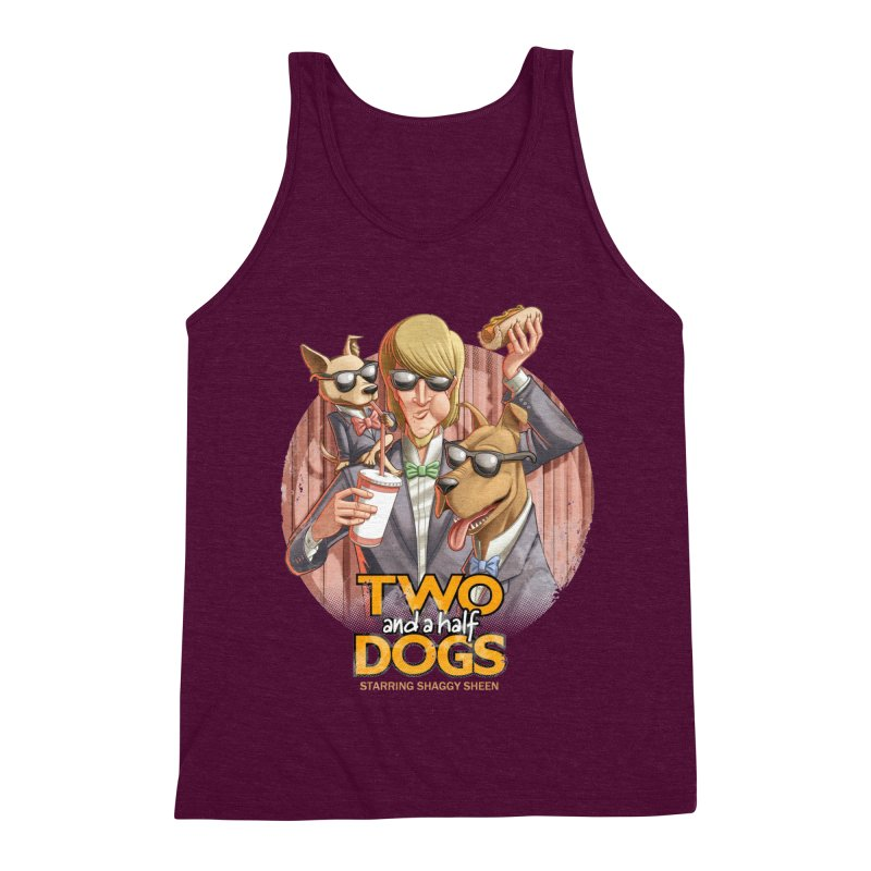 Two and a Half Dogs Men's Triblend Tank by T2U