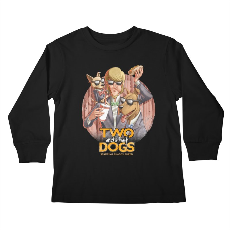 Two and a Half Dogs Kids Longsleeve T-Shirt by Tiago Möller Art Shop