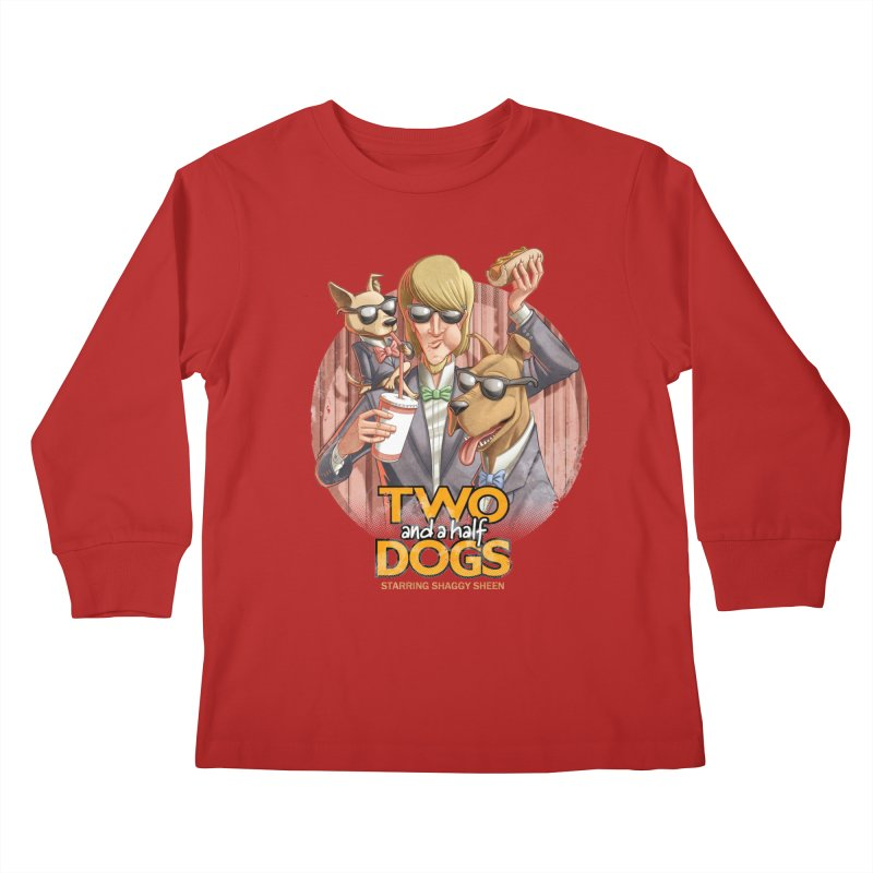 Two and a Half Dogs Kids Longsleeve T-Shirt by Tiago Möller Art Shop