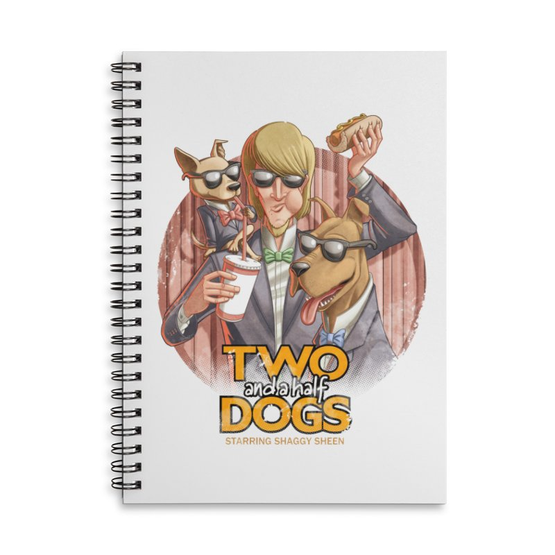 Two and a Half Dogs Accessories Lined Spiral Notebook by T2U