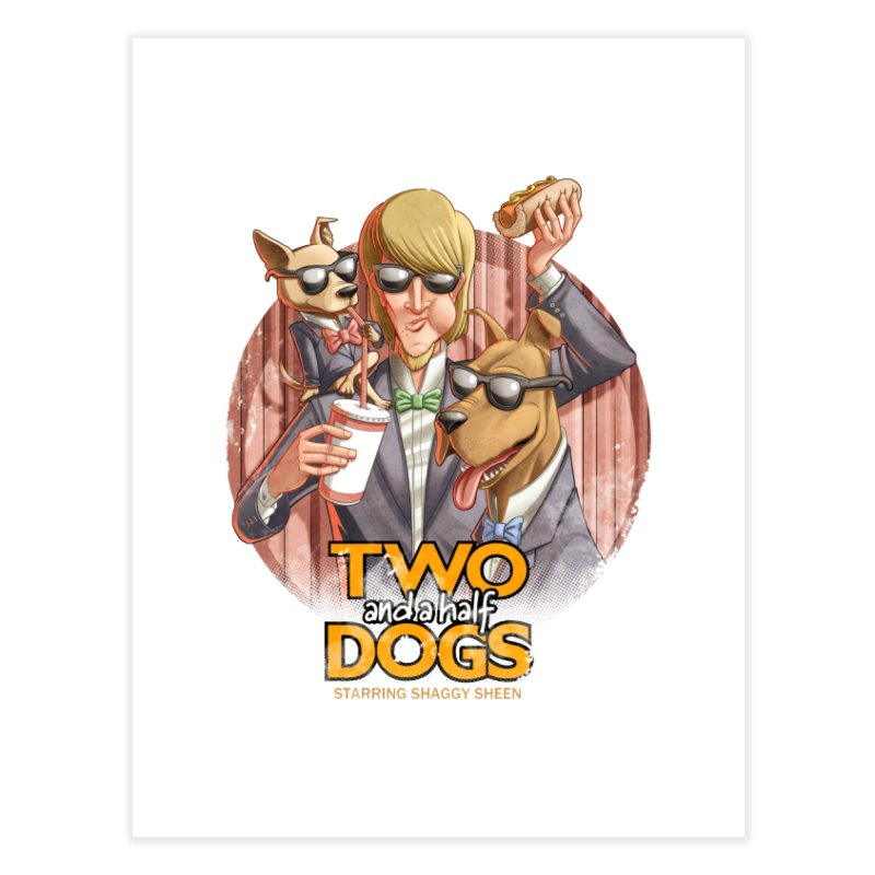 Two and a Half Dogs Home Fine Art Print by T2U