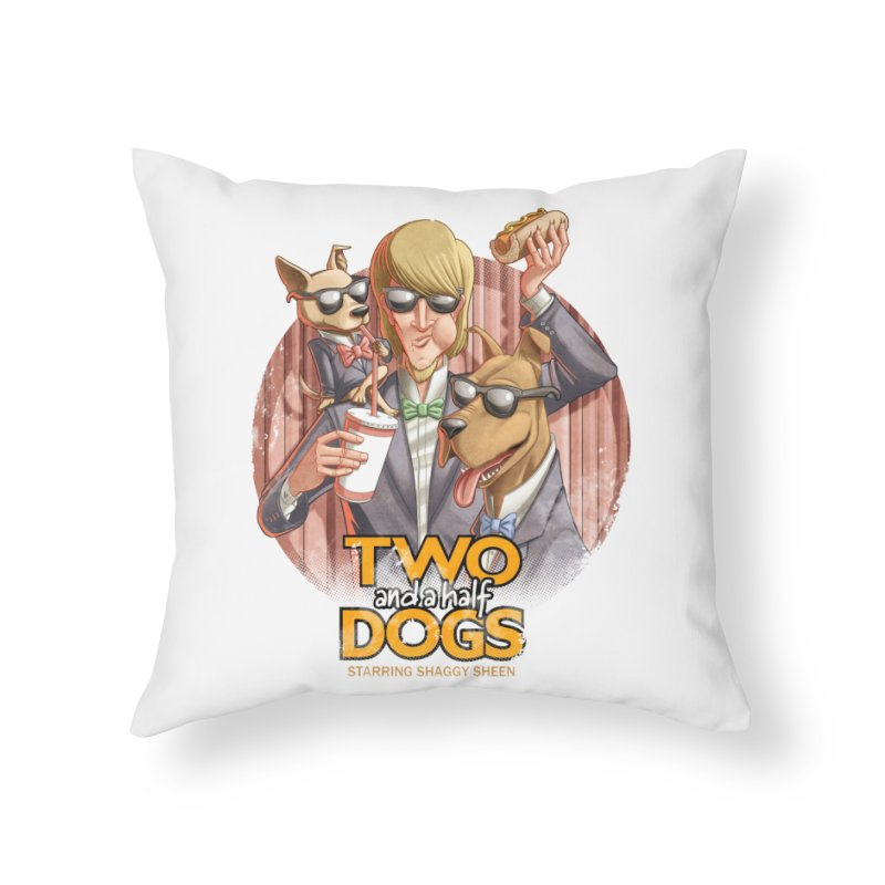 Two and a Half Dogs Home Throw Pillow by Tiago Möller Art Shop
