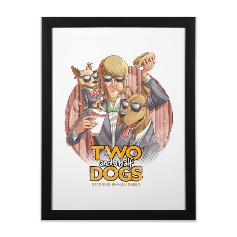 Two and a Half Dogs Home Framed Fine Art Print by Tiago Möller Art Shop