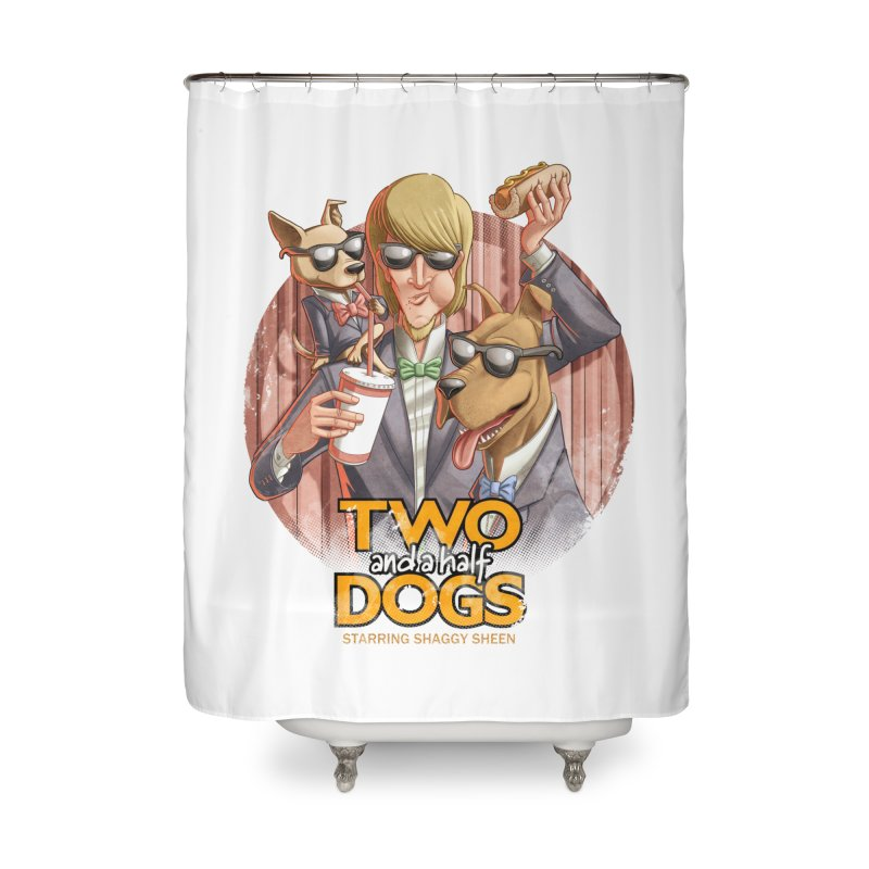 Two and a Half Dogs Home Shower Curtain by T2U