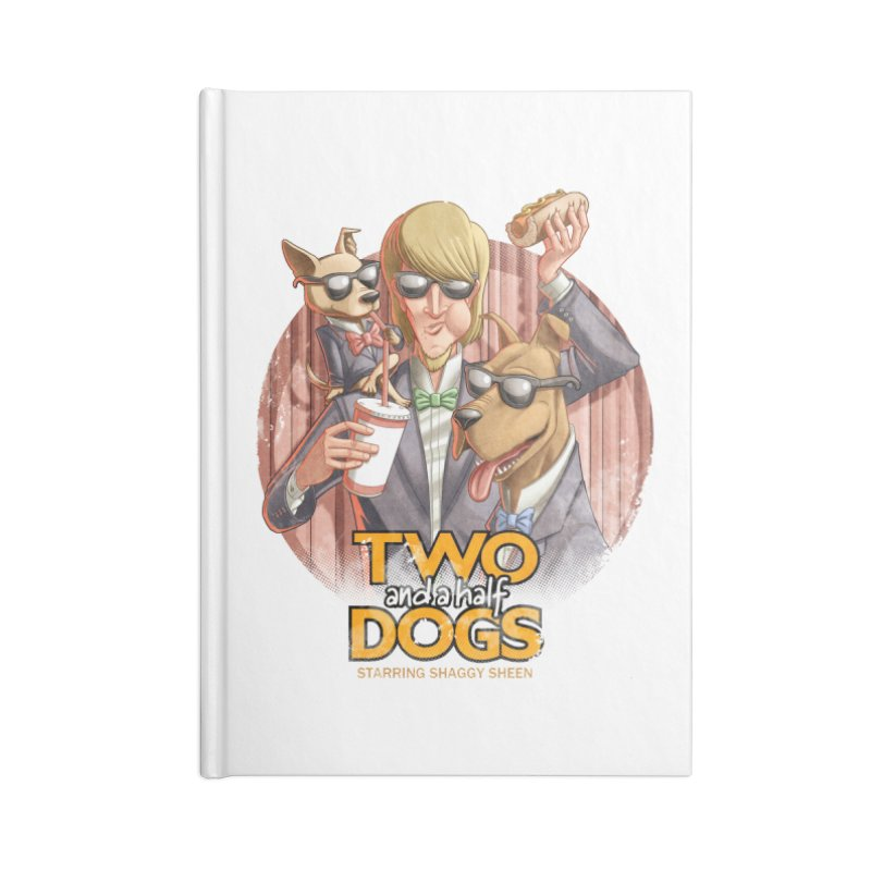 Two and a Half Dogs Accessories Lined Journal Notebook by T2U