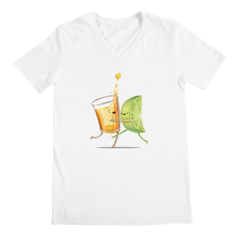 Party Shot Men's V-Neck by T2U