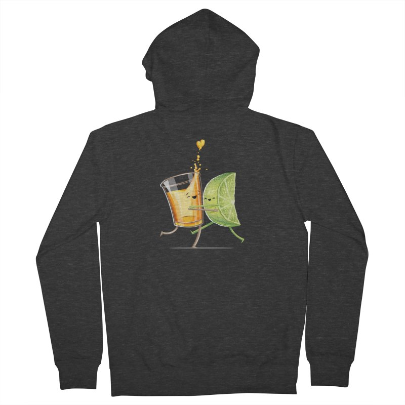 Party Shot Men's French Terry Zip-Up Hoody by T2U