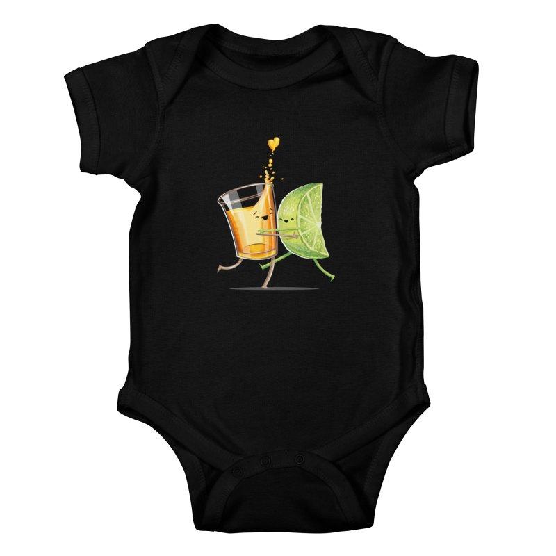 Party Shot Kids Baby Bodysuit by T2U
