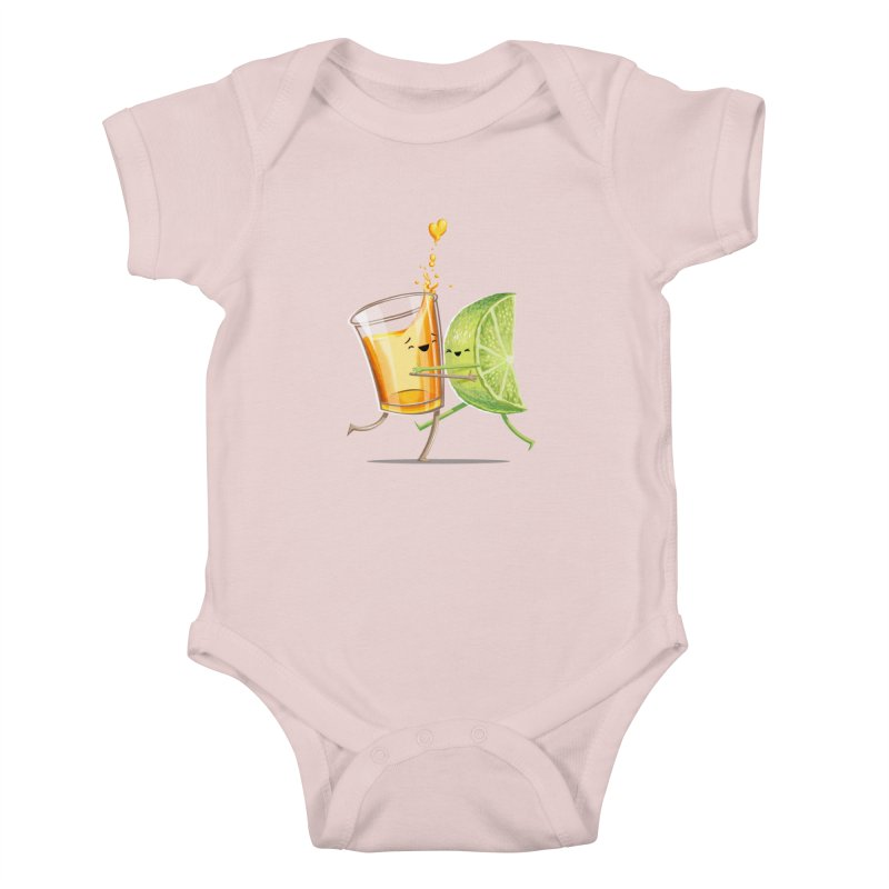 Party Shot Kids Baby Bodysuit by T2U