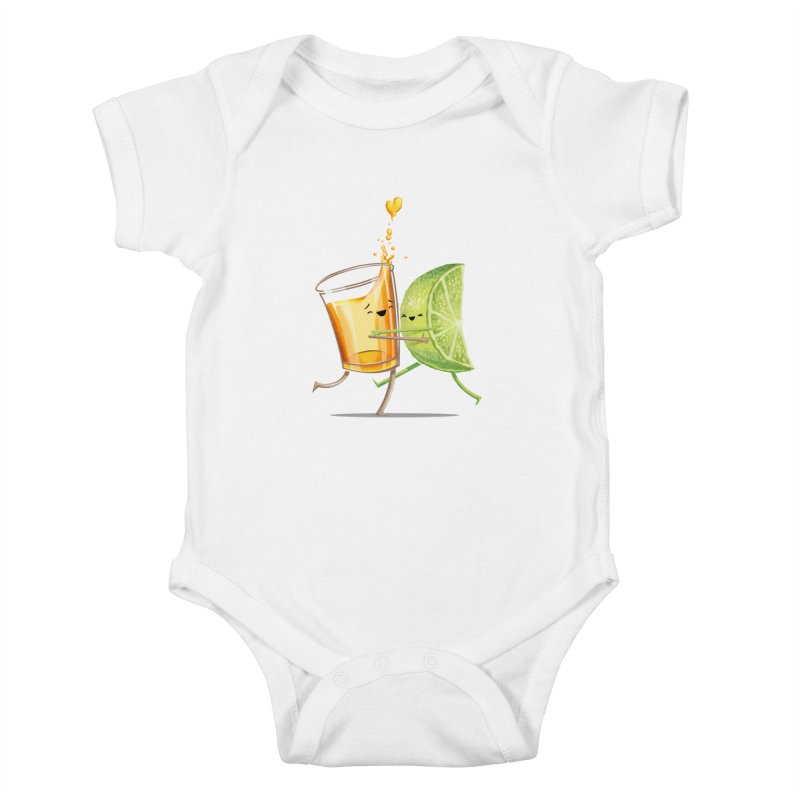 Party Shot Kids Baby Bodysuit by Tiago Möller Art Shop