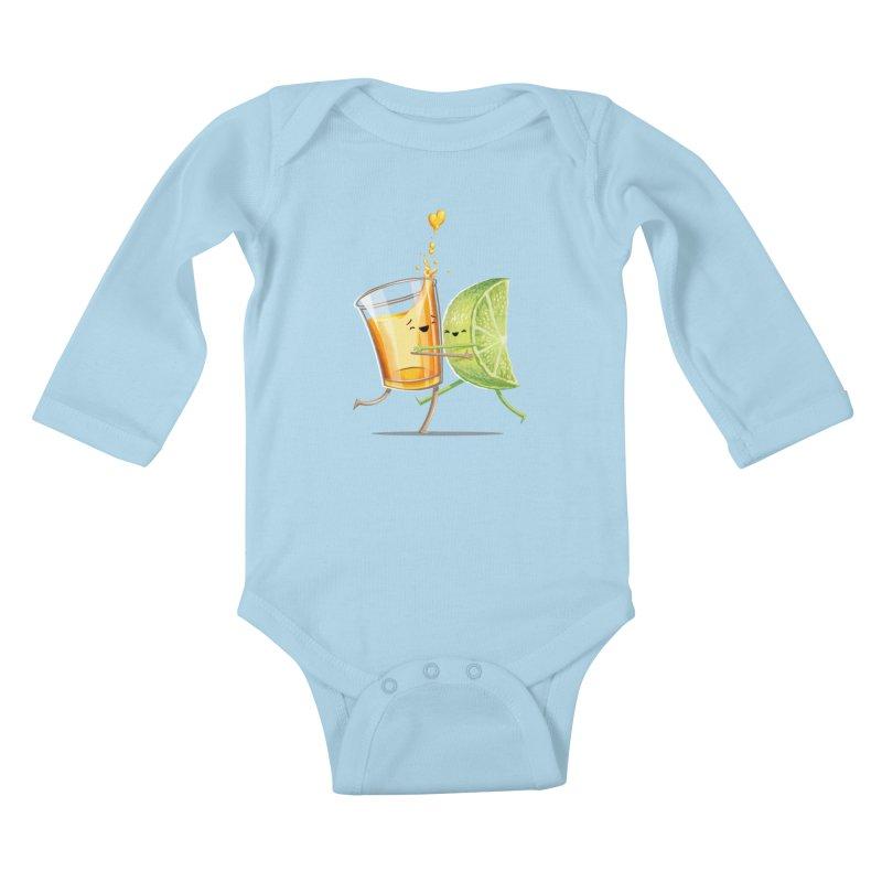 Party Shot Kids Baby Longsleeve Bodysuit by Tiago Möller Art Shop