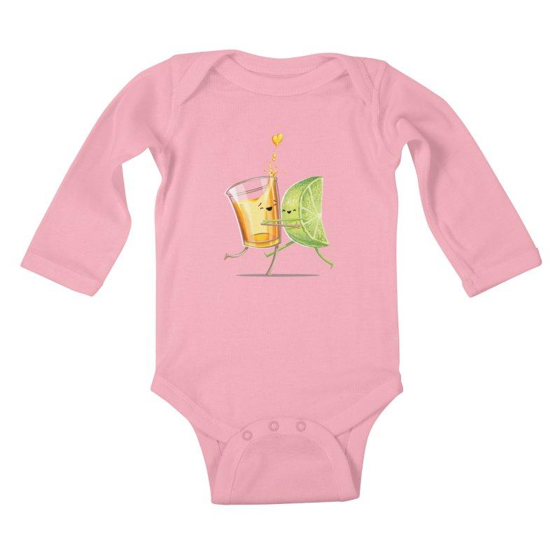 Party Shot Kids Baby Longsleeve Bodysuit by T2U