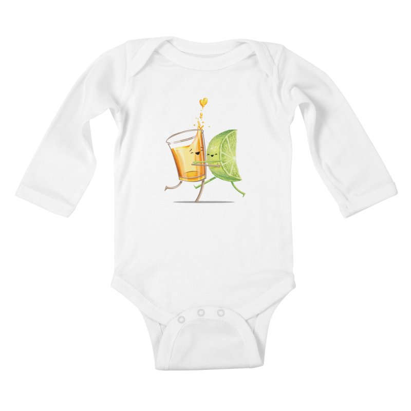 Party Shot Kids Baby Longsleeve Bodysuit by T2U