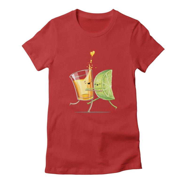 Party Shot Women's Fitted T-Shirt by Tiago Möller Art Shop