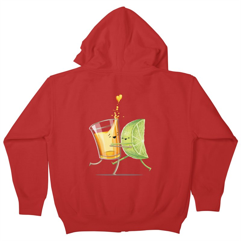 Party Shot Kids Zip-Up Hoody by Tiago Möller Art Shop