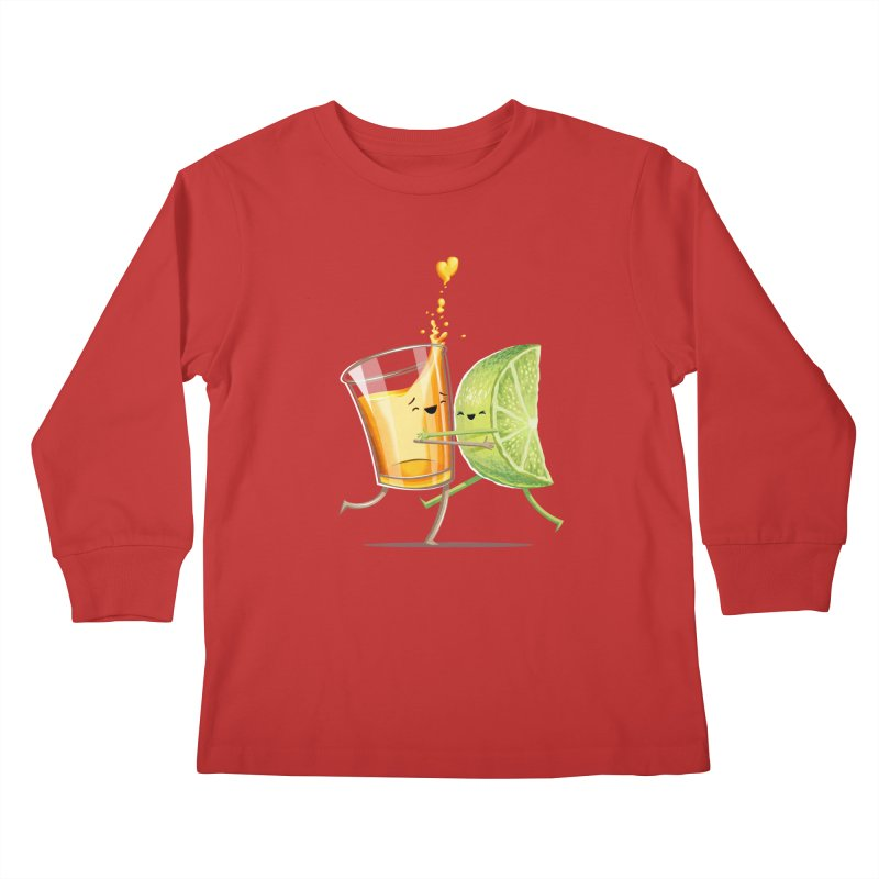 Party Shot Kids Longsleeve T-Shirt by Tiago Möller Art Shop