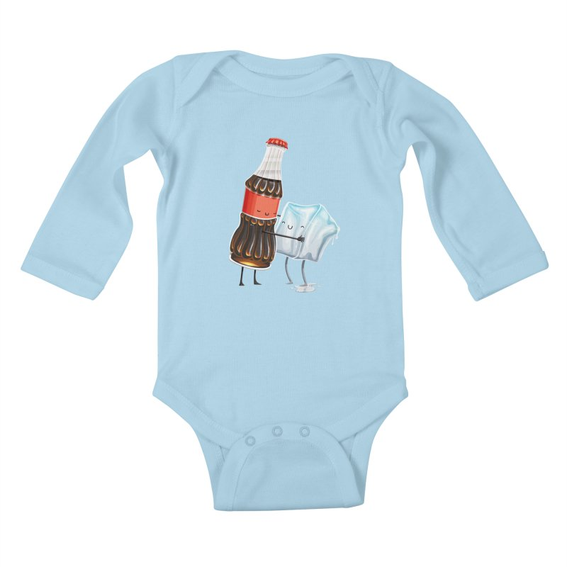 Addictive Love Kids Baby Longsleeve Bodysuit by Tiago Möller Art Shop