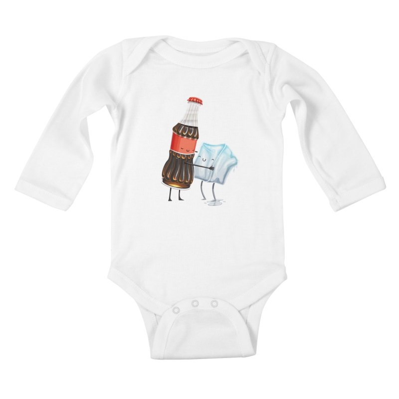 Addictive Love Kids Baby Longsleeve Bodysuit by Tiago Möller Art Shop
