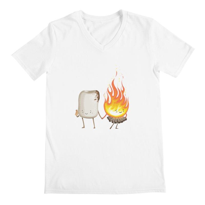 Marshmallove Men's V-Neck by T2U