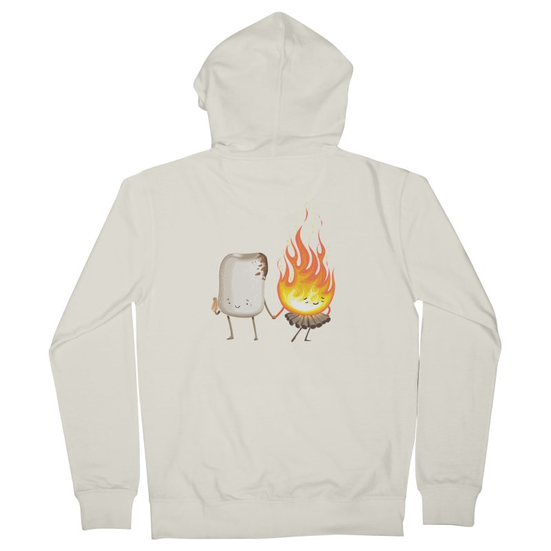 Marshmallove Men's Zip-Up Hoody by Tiago Möller Art Shop