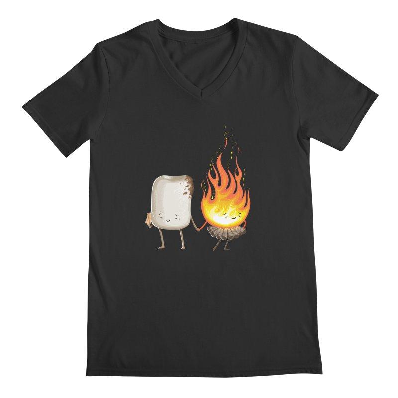 Marshmallove Men's Regular V-Neck by T2U